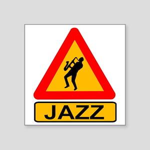Jazz Caution Sign Sticker