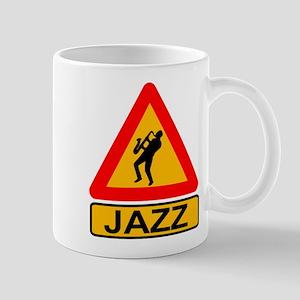 Jazz Caution Sign Mugs