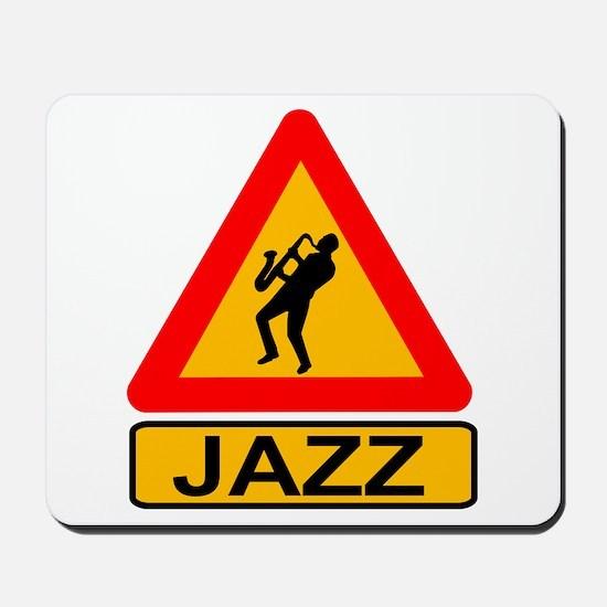 Jazz Caution Sign Mousepad