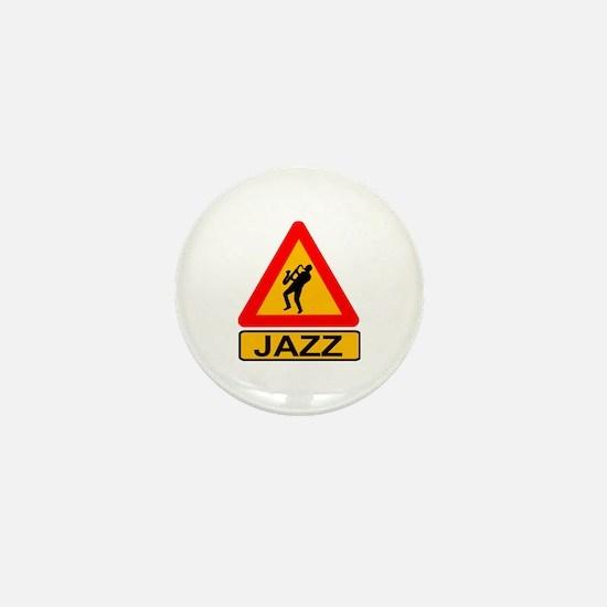 Jazz Caution Sign Mini Button
