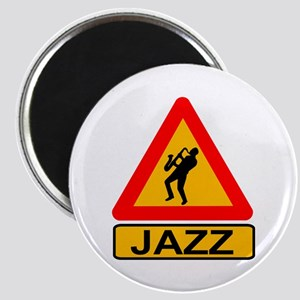 Jazz Caution Sign Magnets
