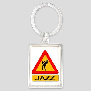 Jazz Caution Sign Keychains