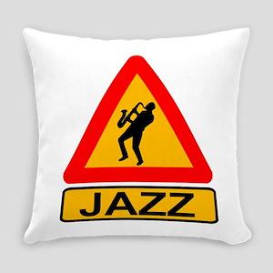 Jazz Caution Sign Everyday Pillow