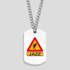 Jazz Caution Sign Dog Tags
