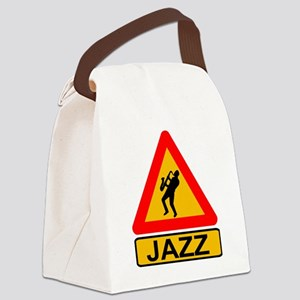 Jazz Caution Sign Canvas Lunch Bag
