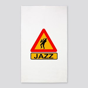 Jazz Caution Sign Area Rug