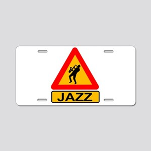 Jazz Caution Sign Aluminum License Plate