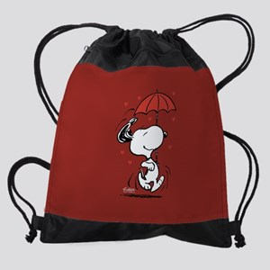 Peanuts: Snoopy Heart Drawstring Bag