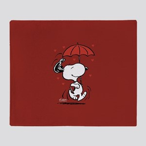 Peanuts: Snoopy Heart Throw Blanket