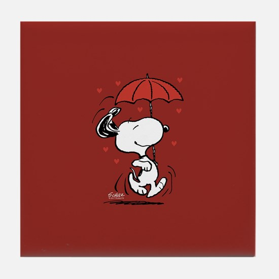Peanuts: Snoopy Heart Tile Coaster
