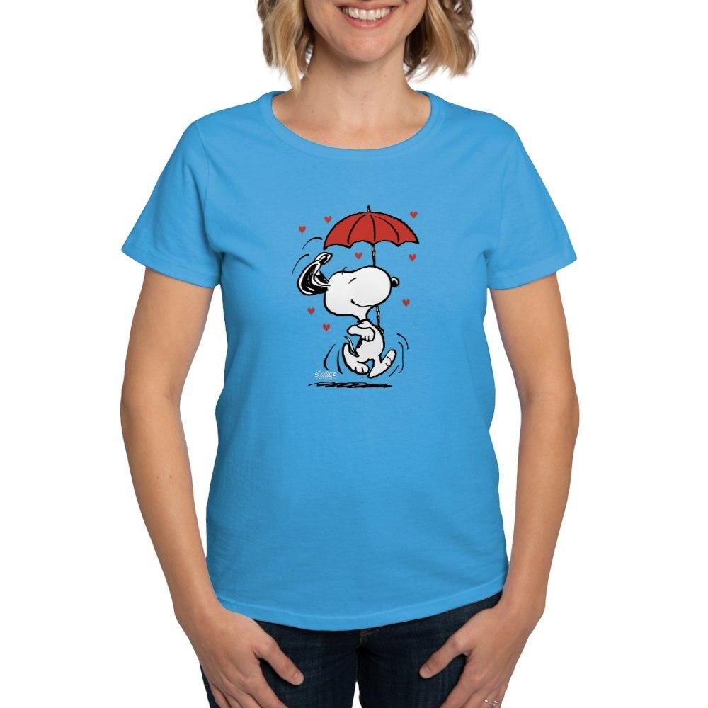 CafePress-Peanuts-Snoopy-Heart-T-Shirt-Women-039-s-Cotton-T-Shirt-181901086 thumbnail 50