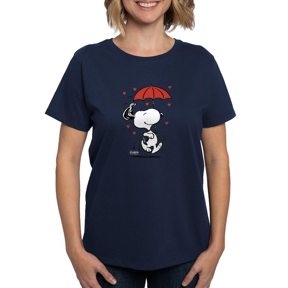 CafePress-Peanuts-Snoopy-Heart-T-Shirt-Women-039-s-Cotton-T-Shirt-181901086 thumbnail 36