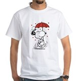 Valentines day peanuts snoopy Mens Classic White T-Shirts