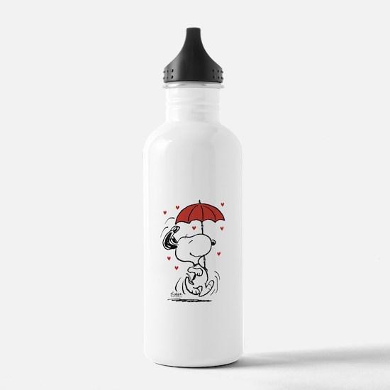Snoopy on Heart Water Bottle