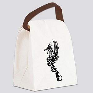 Tribal Dragon Canvas Lunch Bag