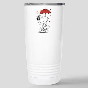 Snoopy on Heart Travel Mug