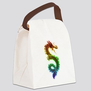 Colorful Dragon Canvas Lunch Bag
