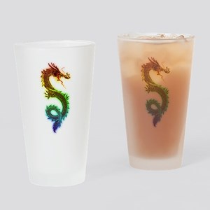 Colorful Dragon Drinking Glass