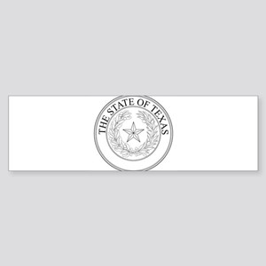 The State Of Texas Seal Bumper Sticker