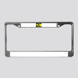 Caution Radioactive Sign License Plate Frame