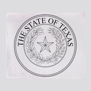 The State Of Texas Seal Throw Blanket