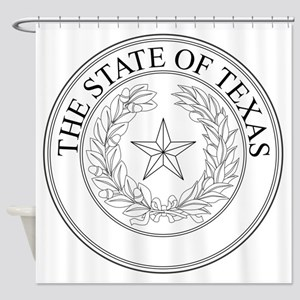 The State Of Texas Seal Shower Curtain