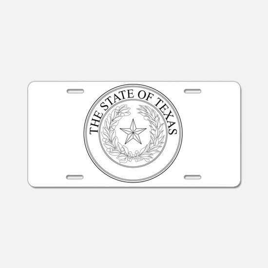 The State Of Texas Seal Aluminum License Plate