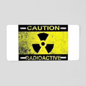 Caution Radioactive Sign Aluminum License Plate