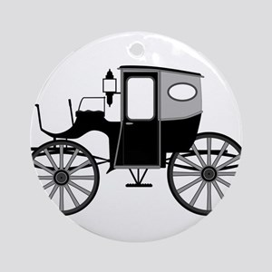Old Style Carriage Round Ornament