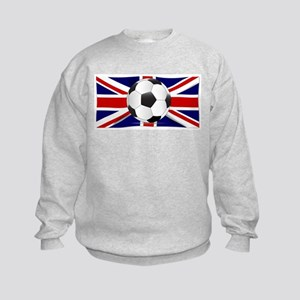 British Flag and Football Kids Sweatshirt