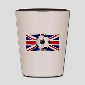British Flag and Football Shot Glass