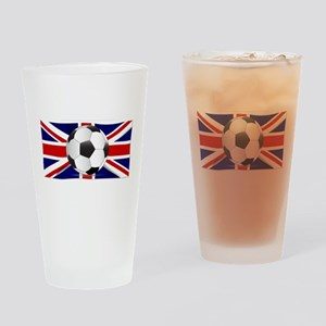 British Flag and Football Drinking Glass