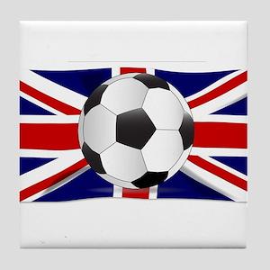 British Flag and Football Tile Coaster