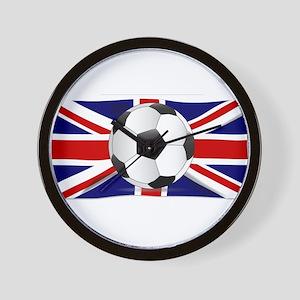 British Flag and Football Wall Clock
