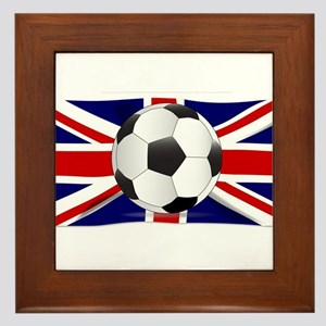 British Flag and Football Framed Tile