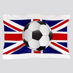 British Flag and Football Pillow Case