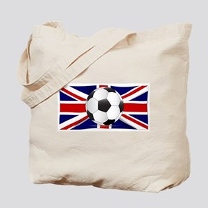 British Flag and Football Tote Bag