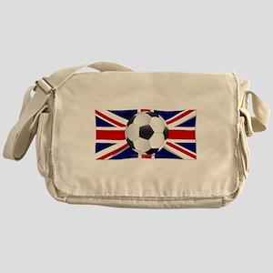 British Flag and Football Messenger Bag