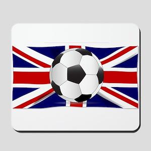 British Flag and Football Mousepad