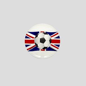 British Flag and Football Mini Button