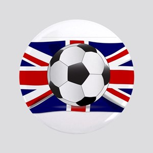 British Flag and Football Button