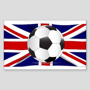 British Flag and Football Sticker