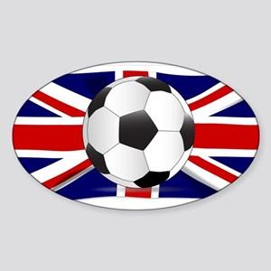 British Flag and Football Sticker