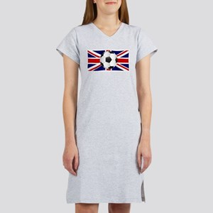 British Flag and Football Women's Nightshirt