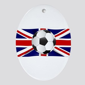 British Flag and Football Oval Ornament