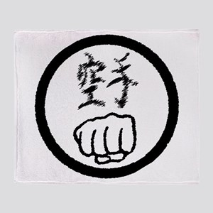 Karate Fist Throw Blanket