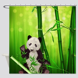Panda Bear Shower Curtain