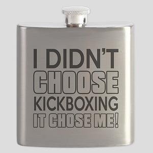 I didn't Choose Kickboxing Flask