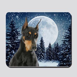 Winter Doberman Mousepad