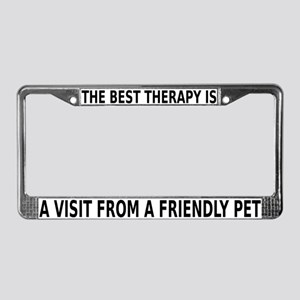 Best Therapy is a Visit License Plate Frame